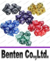 Wholesale New Arrive Set Resin Polyhedral TRPG Games For Dungeons Dragons Opaque D4 D20 Multi Sides Dice Pop for Game Gaming LLFA