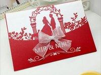 Wholesale high end wedding invitation paste creative hollow out New Design European style wedding invitations custom