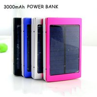 battery backup for ipad - 3000mAh Universal Solar Power Bank Charger External Backup Battery For iPhone iPad Samsung cell Phone Charger Factory Outlet Price