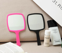 Wholesale fashion classic logo mirror high quality portable makeup mirror in gift box for Women Ladies Color black and red