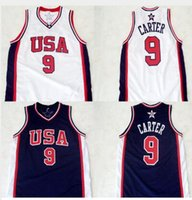 Wholesale Men s Champion Vince Carter Basketball Jerseys White Navy Retro Stitched Sport Jerseys