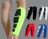 Wholesale 1 pair Multifunctional Shin Guards Soccer Protective Pads Leg Calf Compression Sleeves Football Running Sports Tools