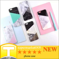 new arrival phone - New Arrival Classic Geometric Splicing Marble Texture Grain Cases for iPhone S PLus S Plus TPU Soft Back Cover Phone Cases