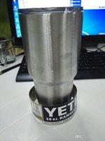 Wholesale Hot Yeti cup Powder Coated oz oz oz Yeti Rambler YETI Coolers Rambler Tumbler Stainless Steel Double Walled Travel Mug YETI cup