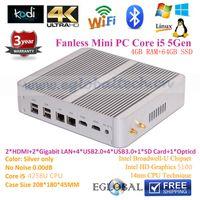 in one pc - Broadwell MINI PC Windows Fanless All In One Desktop Computer Intel Core i5 u G Barebone M WIFI Dual NIC Dual HDMI