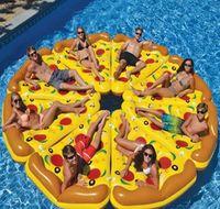 big pizza - Inflatable Swimming Rings X155CM Big Pool Rings Pizza Shape Inflatable Flamingos Pool Float Hotsale Pool Toys Swim Ring