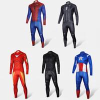 Wholesale High Quality Spiderman Batman Superman Iron Man Captain America Cycling Jerseys Plus Size Halloween Super Hero Cosplay Costume