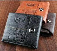 Wholesale 2016Europe and the United States short wallet more than a card male wallet magnetic buckle short bag folding soft leather men s wallet