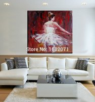 ballet dancer artist - Top Skilled Artist Hand painted High Quality Abstract Ballet Dancer Oil Painting On Canvas Handmade Ballet Lady Oil Paintings
