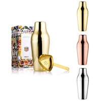 Wholesale Golden Stainless Steel Cocktail Shaker Martini Mojito Drink Mixer Party Bartender Shaker Tool Kit Wine Vinho Bar Accessories