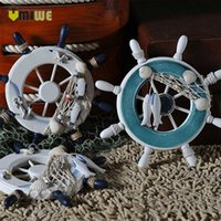 Wholesale Nautical Marine Pirate Ship Home Decor Ornamental Wood Helm Wheel Wall Decoration For Boys Kids Room cm