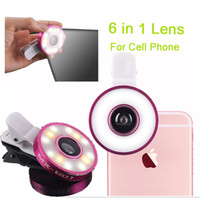 Wholesale 3 In Universal Clip Camera Mobile Phone Lens Fish Eye Macro Wide Angle for iphone All Cell Phone DHL Free OTH237