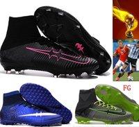 Wholesale Mens Kids Mercurial CR7 Superfly FG Football Boots Soccer Shoes Magista Obra Orden Boys Soccer Cleats Women Children Soccer Boots siz