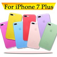 Wholesale 0 mm Ultra Thin Slim Matte Frosted Clear Soft PP Full Cover Lens Protection Cover Case for iPhone Plus S inch MOQ
