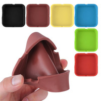 Wholesale New Soft Eco Friendly Pocket Round Shatterproof Cigar Rubber Silicone Ashtray Ash Holder Gift Smokeless