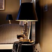 Wholesale The modern pistol chrome modern style bedroom living room lamp lamp table lamp