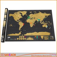 Wholesale Scratch Map Personalized World Scratch Map Scratch Off Coating Poster x cm x inches