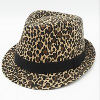 Wholesale New Style Fashion Street Wide Brim Hats Leopard print Caps Unisex knight Performance Cap