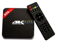Wholesale 2016 New Model KODIOS TV BOX H96 PLUS K Amlogic S905 GB GB EMMC Android Tv Box Support G G WiFi Bluetooth4 Ethernet MB