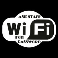 ask hotel - Hot Sale Wifi WiFi Ask Staff For Password Stickers Signs Decals Window Shop Pub Hotel Cafe Bar x104 mm Black White