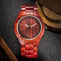 best sandal brands - 2016 Eco Friendly Red Sandal Wood Health Watches Uwood Brand Wooden Watch Japan Quartz Wristwatch For Mens Women Lover Best Gift