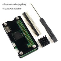 Wholesale Starter Kits for Raspberry Pi Zero Acrylic Black Case with Pin GPIO Header HeatSink Screwdriver