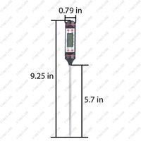 Wholesale Hot thermometer Probe type electronic digital display liquid barbecue baking oil temperature gauge
