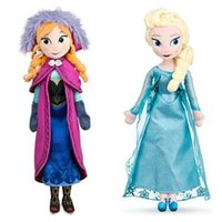 Wholesale Frozen cm Princess Elsa Plush Anna Plush Toy Doll Brinquedos Kids Dolls Olaf Milu Sven Kristoff Moive Toys Dolls For Gifts Baby Dolls