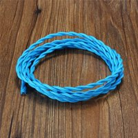Wholesale Newest Meter Retro Vintage mm Core Twist Braided Fabric Cloth Cable Wire Colorful Flexibal Electric Lighting Cord