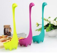 Wholesale Nessie Soup Ladle Loch cute Spoon Creative home Kitchen Bar Cooking Gadgets Accessories color Plastic spoon