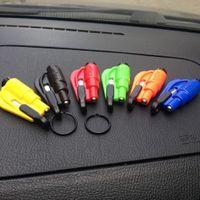 Wholesale Mini Safety Hammer Auto Car Window Glass Breaker Seat Belt Cutter Rescue Hammer Car Life saving Escape Tool