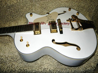 Wholesale New arrival White Jazz Guitar Hollow Body Electric Guitar From China Guitar Factory