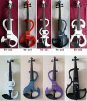 Wholesale The Lowest price of high grade white electro acoustic electric violin with a wireless hand crafted wood