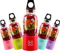 Wholesale New Bingo Juice Cup USB Rechargeable Mini Juice Maker Electric Blender Drink Mixer ml Water Bottle colors