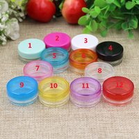 Wholesale 3g g Colors Small Round Cream Bottle Plastic Colorful Makeup Cream Cosmetic Travel Bottles Container Pot Jar Blue White Pink Transparent