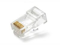 Wholesale COB Clear Metal RJ UTP CAT5 Crystal Modular Plug Ethernet Lan Networking Network Connector