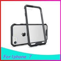 acrylic cushion covers - Clear Crystal Acrylic back Premium Hybrid with TPU Case For Iphone7 plus s plus Cover AIR CUSHION