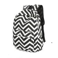 backpacks for girls college - New school backpacks for girls travel backpack wave pattern striped shoulder bag College Korean students fresh canvas bags WY0652