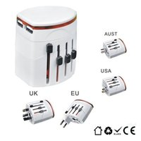 Wholesale Convinien All in One Universal International Plug Adapter USB Port World Travel AC Power Charger Adaptor with AU US UK EU Plug