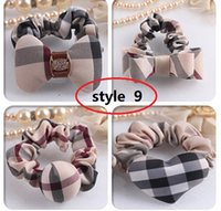 american apparel flannel - 15 style christmas gift New American Apparel Style Big Tartan Plaid Flannel Bow Hair Clip for baby girls ponytail holder Claw clip
