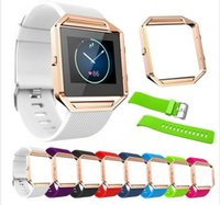 Cheap Feitong Candy Color Luxury Soft Silicone Watch Band Wrist strap + Metal Frame For Fitbit Blaze Watch Buckle Bracelet