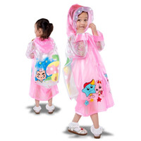 bicycle rain capes - 50pcs Children Raincoat New Cartoon Cape style Girl Boy Children Kids Students Bicycle Poncho Rain Coat Waterproof Rainwear ZA0515