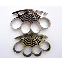 Wholesale Spider Man THICK CHROMED STEEL BRASS KNUCKLES KNUCKLE DUSTER Knuckle Duster Brass Knuckle Clutch Knuckle Knives Self Defense Tool