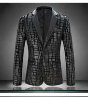 Wholesale men pu leather slim suit for men plus size spring autumn fashion men blazers M XXXXL
