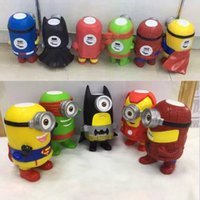 batman speakers - Christmas Gift D minions Mini Bluetooth Speaker Portable Wireless Speakers Music Player Superman Iron man Batman Captain America