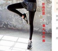 Wholesale 2016 Fitness Pants Female Wicking Stretch Tight Yoga Pants Sports Pantyhose Training Women Running Trousers Slim Leggings