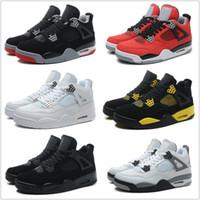 Wholesale Kids Retro Basketball Shoes Men Cheap J4 IV Boots Authentic Online For Sale Sneakers Mens Sport Shoes Size