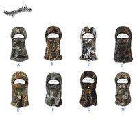 Wholesale Outdoor Gear Airsoft Paintball Shooting Gear Full Face Polar Fleece Tactical Hunting Mask Hunting Bionic Camouflage Hood