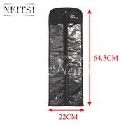 Wholesale Neitsi pc cm cm Hair Extensions Black Storage Bag Carrier Suit Case Bag For Virgin Hair Clip in Hair Extensions