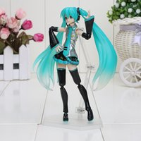 baby guitar toy - 14cm Hatsune Miku Figma PVC Action Figure Collectible Model Toy With Guitar Brinquedos Baby Gift